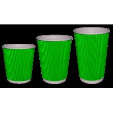 Стакан гофрированный зеленый