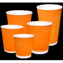 Стакан гофрированный оранжевый