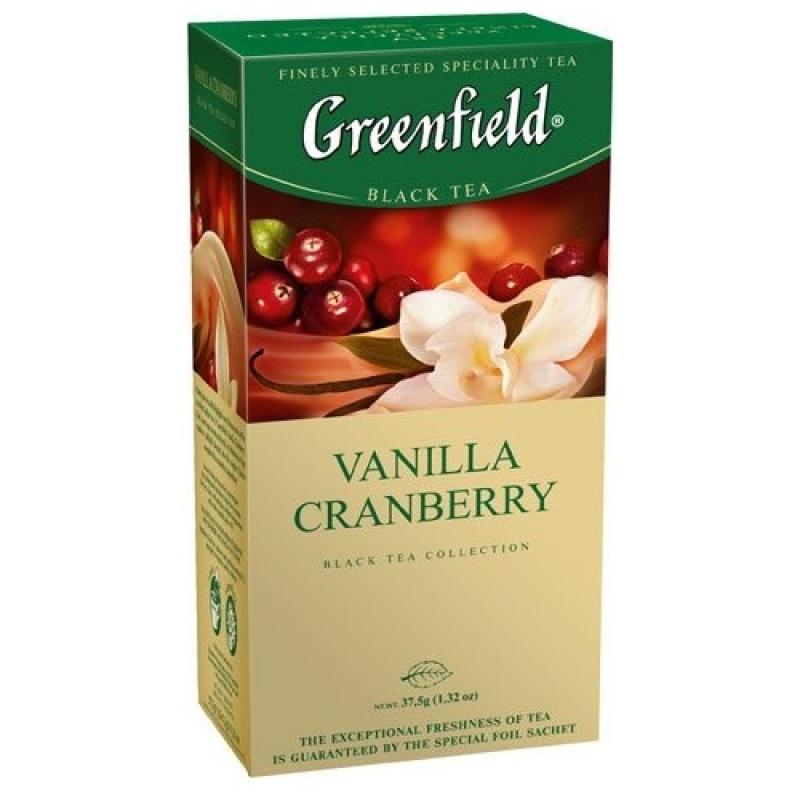 Чай Greenfield Vanilla Cranberry 25 пакетов