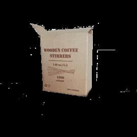 Мешалка деревянная в коробке 140/5,5 мм  1000 шт