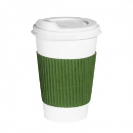 Термопояс клееный зеленый для стакана 250-340 мл 25 шт