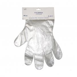 Перчатки РЕ одноразовые на планке 100 шт