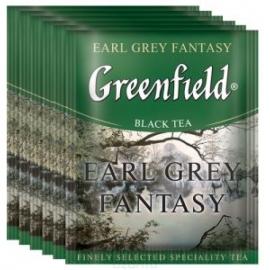 Чай Greenfield Earl Grey Fantasy черный с бергамотом 100 пакетов
