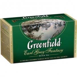 Чай Greenfield Earl Grey Fantasy черный с бергамотом 25 пакетов