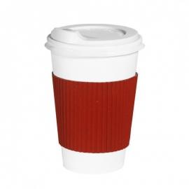Термопояс клееный красный для стакана 250-340 мл 25 шт
