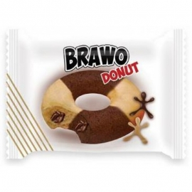 Кекс Brawo Donut мраморный с какао начинкой 50г