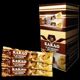 Какао со сгущенным молоком в стиках 35г   25 шт