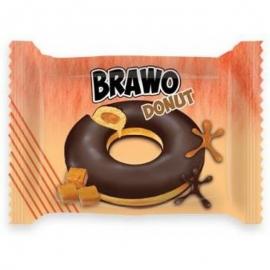 Кекс Brawo Donut с карамельной начинкой в какао-молочной глазури 50г