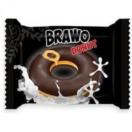 Кекс Brawo Donut с начинкой какао в какао-молочной глазури 50г