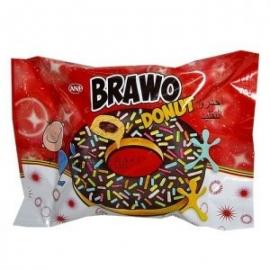 Кекс Brawo Donut с шоколадным кремом и цветными гранулами 50г