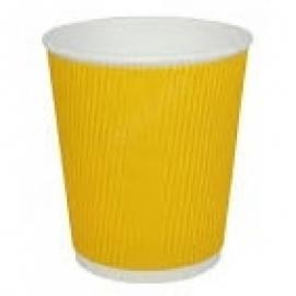 Стакан гофрированный желтый 110 мл