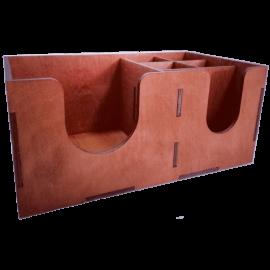 Барный органайзер на шесть отделений коричневый деревянный