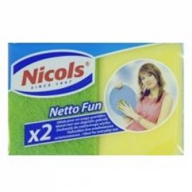 Губка для посуды Nicols Netto Fun 9х7см  2 шт