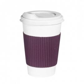 Термопояс клееный фиолетовый для стакана 250-340 мл 25 шт