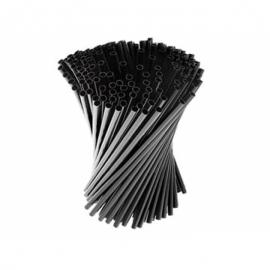 Трубочка для молочных коктейлей черная 500 шт