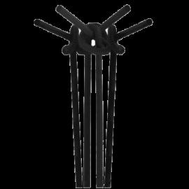 Трубочка Артистик черная 25 см  100 шт.