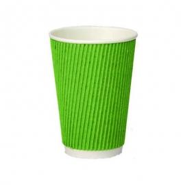 Стакан гофрированный зеленый 175 мл