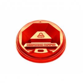 Крышка красная КВ - 89 для стакана 400-500 мл