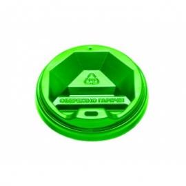 Крышка зеленая КВ - 77 для стакана 250 мл