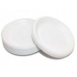 Тарелка пластиковая белая 165 мм 100 шт