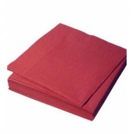 Салфетка бордовая Silken 50 шт
