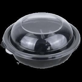 Контейнер пластиковый черный с крышкой PR-750 700 мл