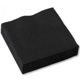 Салфетка черная Silken 50 шт