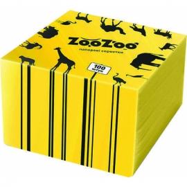 Салфетка столовая Zoo Zoo 24х23 см желтая 100 шт