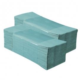 Полотенца бумажные Z-тип зеленые 200 шт