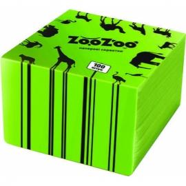 Салфетка столовая Zoo Zoo 24х23 см зеленая 100 шт