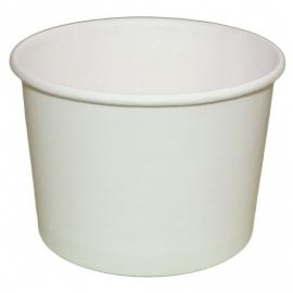 Креманка бумажная для мороженного белая 286 мл